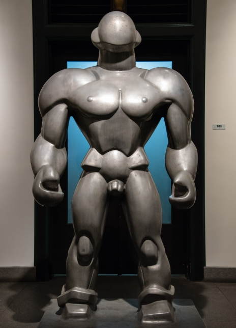 "Sculpture, ""Wrestler"", 1929, by Dudley Vaill Talcot (American, 1899 - 1986) at the Wolfsonian, Miami Beach, Florida, USA"