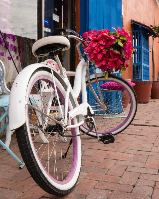 Street scene in El Centro (Old City) Cartagena, Colombia