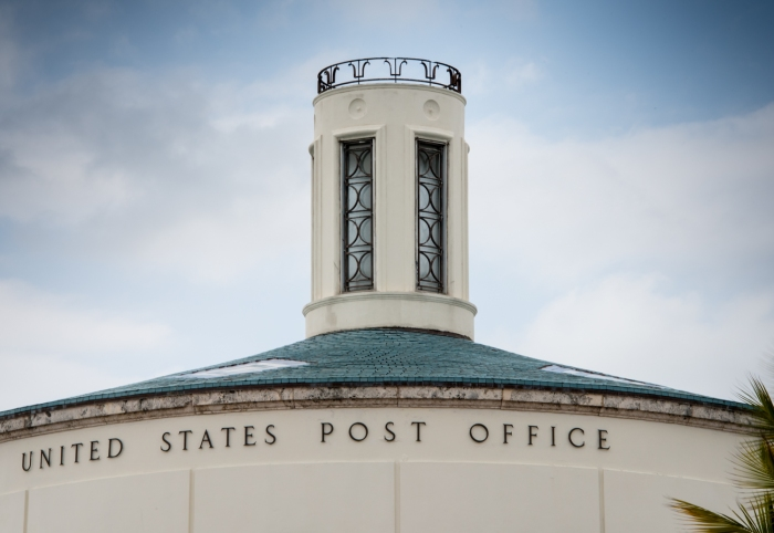 United States Post Office (designed by Howard L. Cheney in 1937), South Beach Art Deco District, Miami Beach, Florida, USA