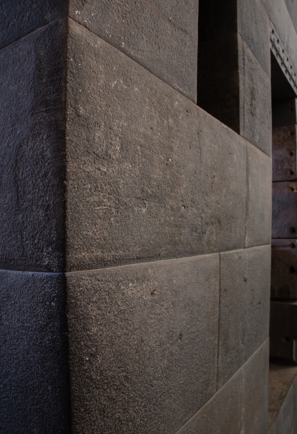 A surviving wall of Qorikancha (the Inca Temple of the Sun in Cuzco, the most important, wealthy and sacred Inca Temple), now within the Church and Convent of Santo Domingo, Cuzco, Peru
