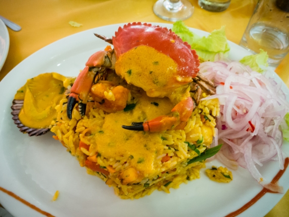 Arroz con mariscos (rice with local seafood) (entree) at El Mochica Restaurant, Trujillo, Peru