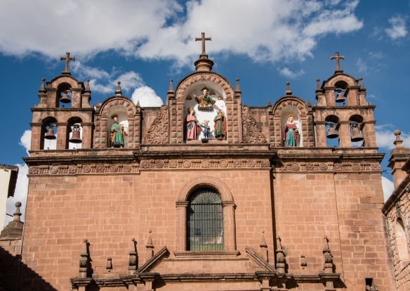 Belfries of the chapel of the Cathedral Basilica of the Assumption of the Virgin, also known as Cusco Cathedral, Cuzco, Peru