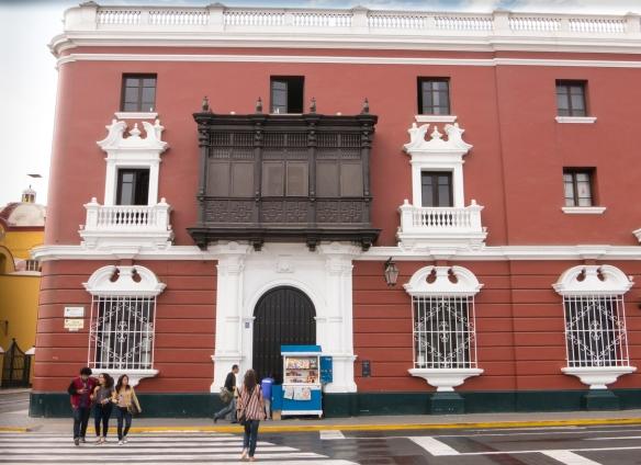 Casa de Bracamonte, across from Plaza de Armas, Trujillo, Peru