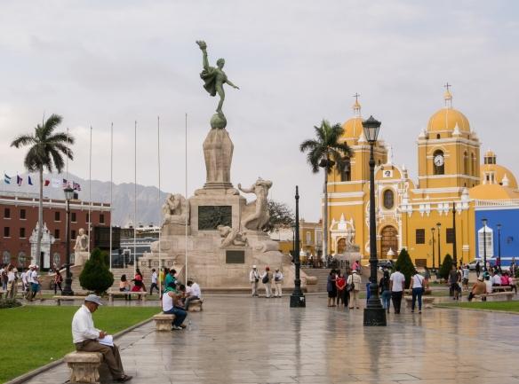 Monumento a la Libertad (Freedom Monument), in the center of Plaza de Armas, Trujillo, Peru