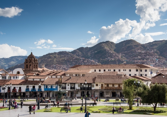 Plaza de Armas, Cuzco's main square, in the heart of the city -- formerly the Center of the Inca's Andean World, Peru