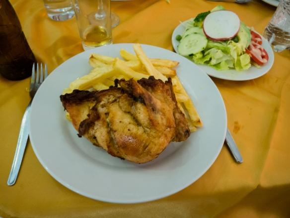 Pollo assado (broiled chicken) (entree) at El Mochica Restaurant, Trujillo, Peru