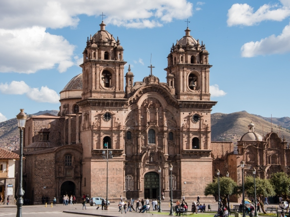 Templo de la Compañía de Jesús (Church of the Society of Jesus), a historic Jesuit church in Cuzco, Peru