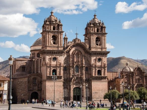 Templo de la Compañía de Jesús (Church of the Society of Jesus), a historic Jesuit church in Cuzco, Peru