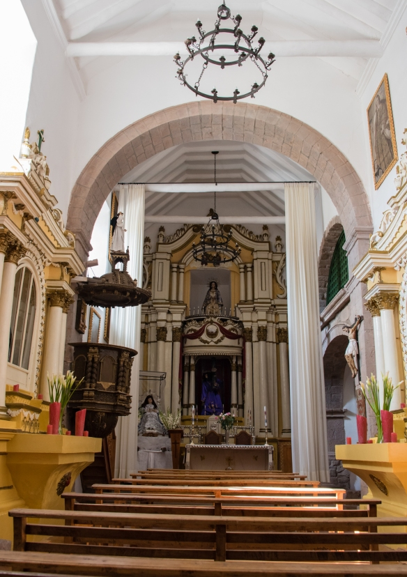 The chapel, dating back to when this was a convent, at Belmond Palacio Nazarenas (Hotel), Cuzco, Peru