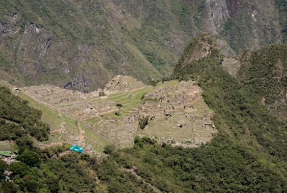 The main urban sectors (central plateau) of Machu Picchu, Peru