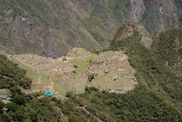 The main urban sectors (central plateau) of Machu Picchu, Peru