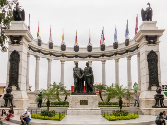 """The Rotunda"", a monument built as a Memorial of the famous interview between Simon Bolivar and Jose de San Martin in Guayaquil on 26-27 July 1882, on the Malecon Simon Bolivar (Malecon 2000), Guayaquil, Ecuador"