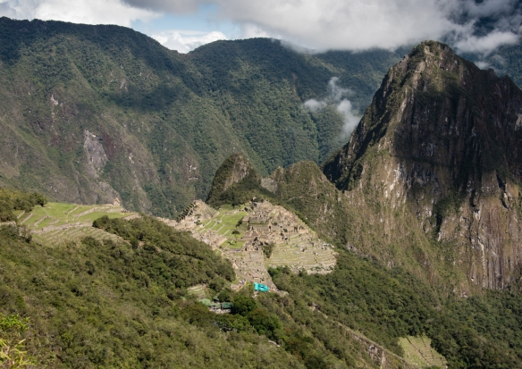 The upper agricultural sector and the main urban sectors (central plateau) of Machu Picchu, Peru