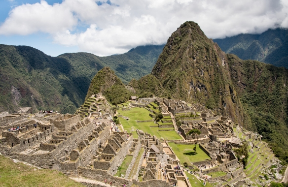 The Upper and Lower Urban Sectors of Machu Picchu, Peru; note that the layout of Machu Picchu is similar to the layout of the Inca capital city, Qosqo (Cuzco)