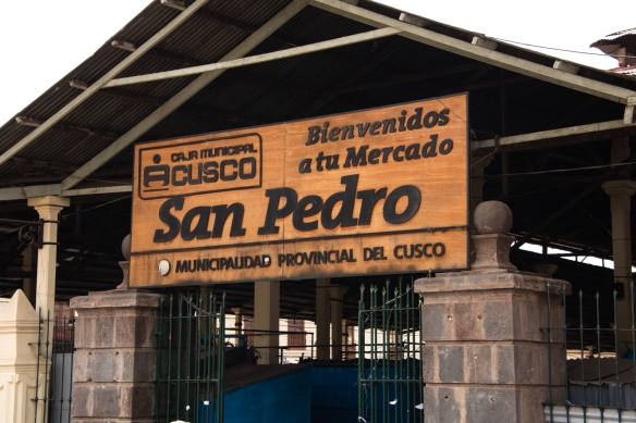 Entrance to the Mercado San Pedro (Cuzco municipal market), Peru