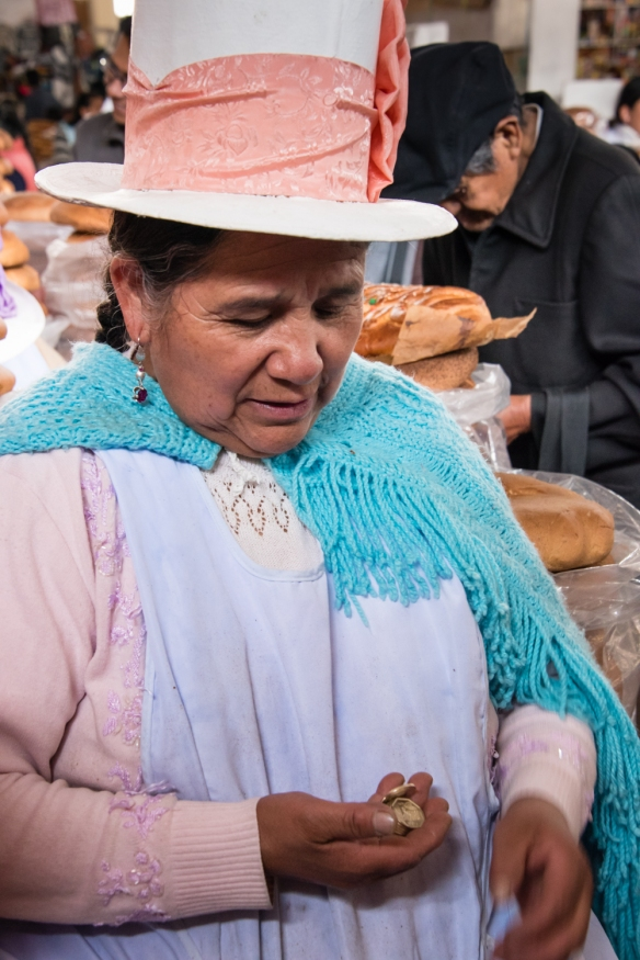 However, business is very good this morning at the bread stall, Mercado San Pedro, Cuzco, Peru