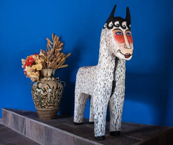 In the Wayran Ranch entry, the colors of Peru mix and mingle, as the country's culture and tradition are represented in works of popular art, Urubamba Province (Sacred Valley of the Incas), Peru