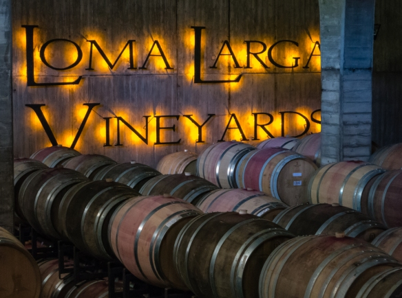 Loma Larga's cask aging room at the winery, Lo Ovalle, Casablanca Valley, Chile