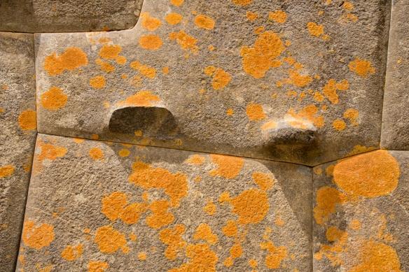 Mortarless stone walls of Ollantaytambo Fortress showing the custom fitting of individual stones, Ollantaytambo, Peru