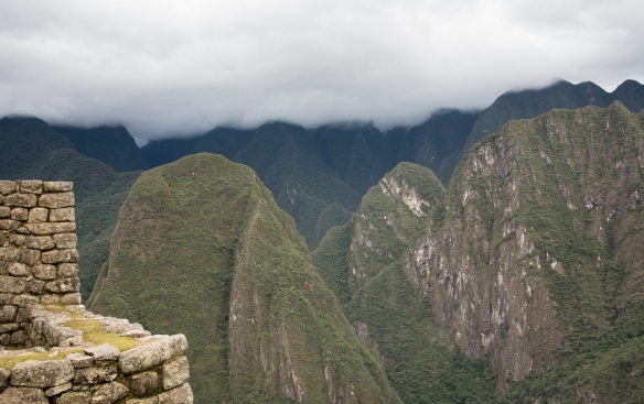 The shape of the southeast corner of the noble houses in the eastern urban sector mirrors the surrounding mountains at Machu Picchu, Peru