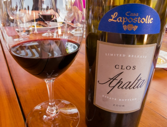 A beautifully aged 2006 Clos Apalata (predominantly Carmenère) accompanied our main course (below), Lapostolle Residence, Santa Cruz, Colchagua Valley, Chile