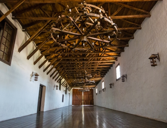 The reception hall (often rented out for private parties) in the century-old estate at Viña Casa Silva in Angostura, San Fernando, Colchagua Valley, Chile