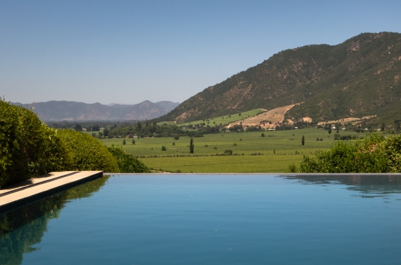 The setting of Lapostolle Residence on the edge of Apalta Vineyards, Casa Lapostelle, Santa Cruz, Colchagua Valley, Chile