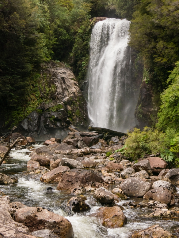 The waterfall was one of the visual highlights on our nature hike in Parque Aiken del Sur, Puerto Chacabuco, Patagonia, Chile