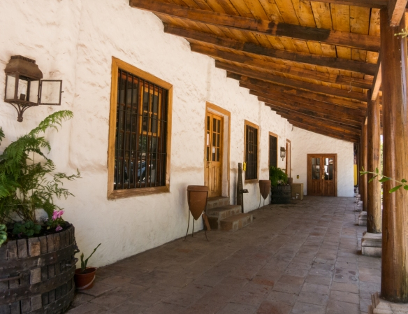 Verandah at the historic winery at Viña Casa Silva, San Fernando, Colchagua Valley, Chile