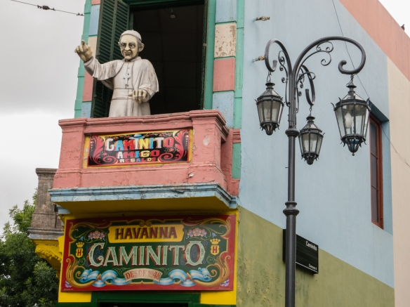 A colorful house on the pedestrian street, the Caminito in La Boca, Buenos Aires, Argentina