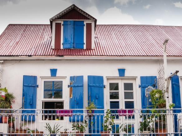 A contemporary home blending French and Caribbean designs in Marigot, Saint-Martin, Caribbean Sea
