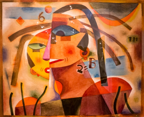 "Alejandro Xul Solar (Argentina, 1887 - 1963), ""Pareja"" (Couple), MALBA modern art museum, Buenos Aires, Argentina"