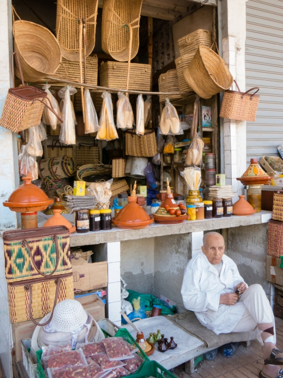 Assorted baskets and kitchen ware for sale in Marché Central (Central Market), Casablanca, Morocco