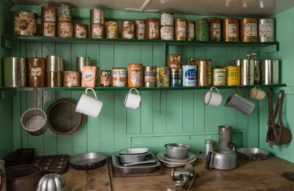 Base Kitchen, circa 1940s, Port Lockroy, Antarctica