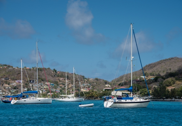 Bequia is the second largest of the Grenadine Islands with a population of about 4,300, Caribbean Sea