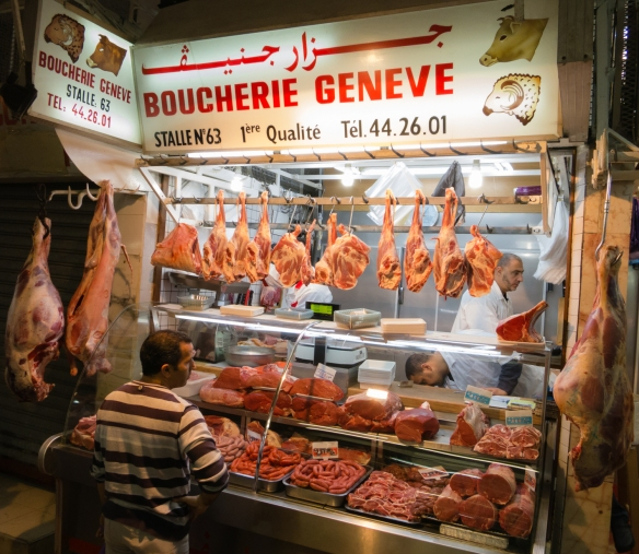 Boucherie Geneve (butcher shop) in Marché Central (Central Market), Casablanca, Morocco