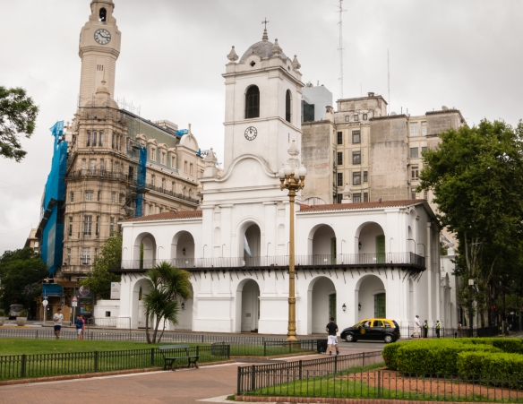 Cabildo, a colonial-style building, was the original seat of city government established by the Spaniards, Buenos Aires, Argentina