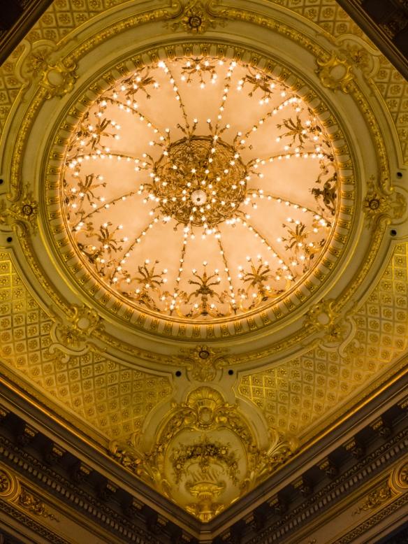 Ceiling detail from Salón Dorado (The Golden Room) of Teatro Colón (Columbus Theatre, the main opera house), Buenos Aires, Argentina