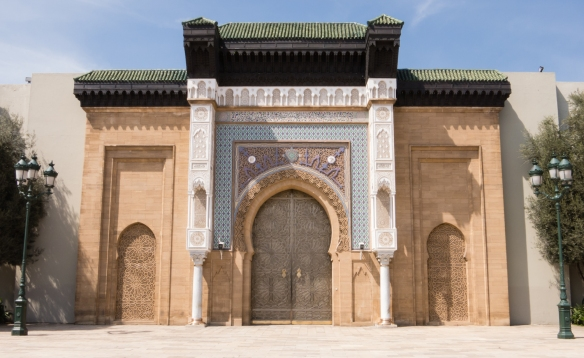 Ceremonial entrance to Palais Royal (Royal Palace), Casablanca, Morocco
