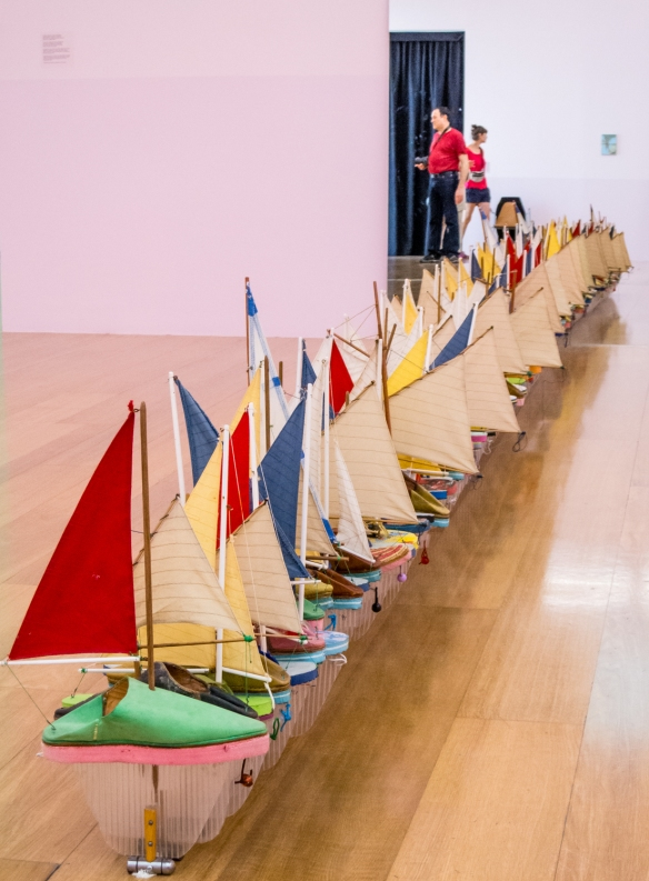 """Francis Alys, """"A Story of Navigation"""" (temporary exhibition), MALBA modern art museum, Buenos Aires, Argentina"""