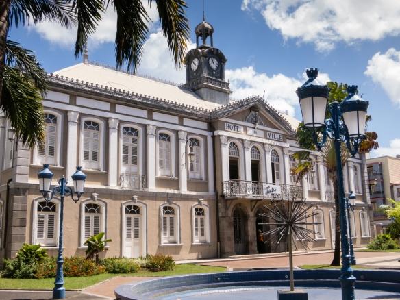Hotel de Ville (City Hall), Fort-de-France, Martinique, Caribbean Sea