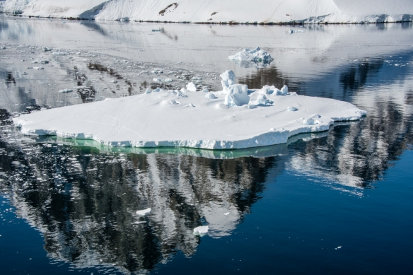 Iceberg and reflections in the Lemaire Channel, Antarctica