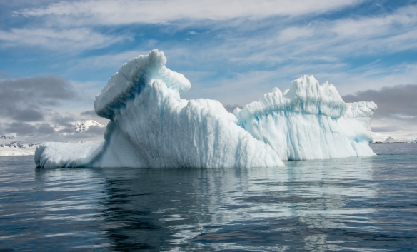 Icebergs in Dallmann Fjords off Northern Anvers Island, Antarctica