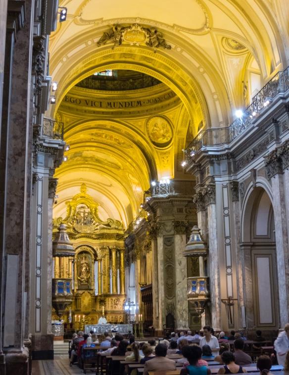 Inside the Catedral Metropolitana de Buenos Aires (Buenos Aires Metropolitan Cathedral), Argentina