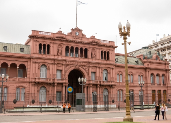 "La Casa Rosada (""The Pink House"") -- the Presidential Palace, Buenos Aires, Argentina"
