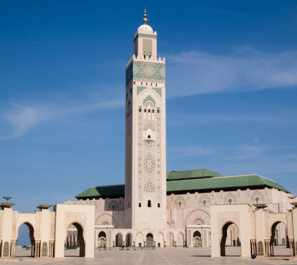 La Mosquée Hassan II (Hassan II Mosque) is one of the largest in the world, Casablanca, Morocco