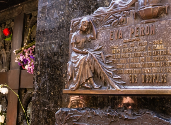 María Eva Duarte de Perón was the second wife of Argentine President Juan Perón and served as the First Lady of Argentina from 1946 until her death in 1952, Recoleta cemetery, Buenos AIres, Argentina