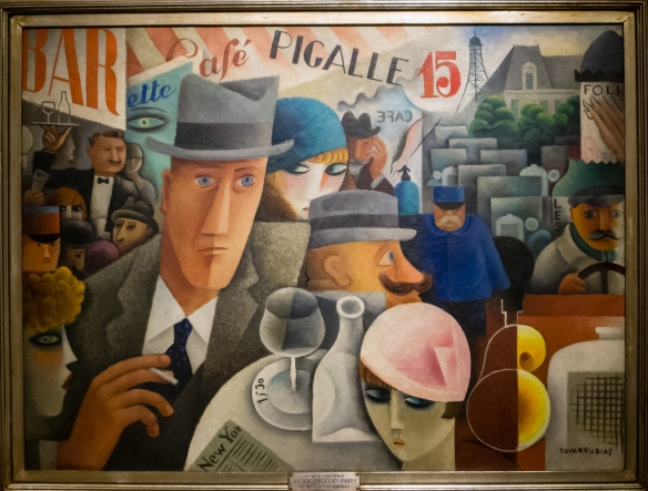 """Miguel Covarrubias (Mexico, 1904 - 1957), """"George Gershwin, An American in Paris"""",  MALBA modern art museum, Buenos Aires, Argentina"""
