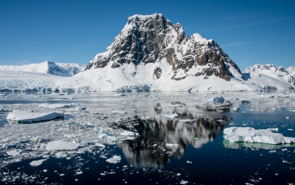 Mountain viewed from the Lemaire Channel, Antarctica