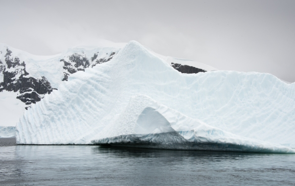 One of the larger icebergs we sailed by in the Gerlache Strait, close to Cuverville Island, Antarctica